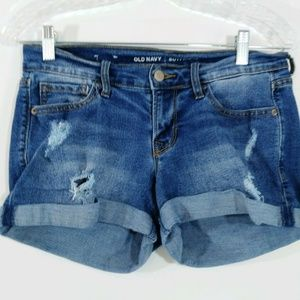 Old Navy Womens Shorts Denim Boyfriend Jean Shorts